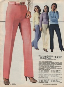 Sears casual clothes make you so casual, you will only seem mildly amused that you are being approached by a giant crotch.