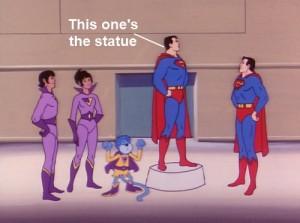 Super Friends Statue