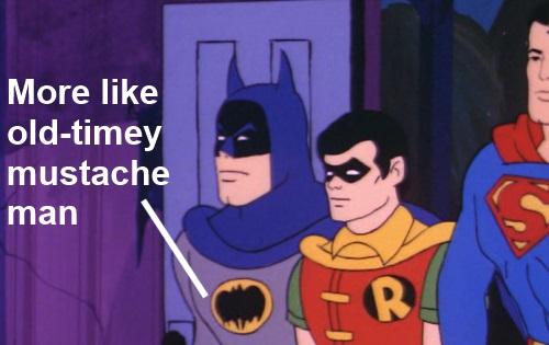 Super Friends Mustache Man
