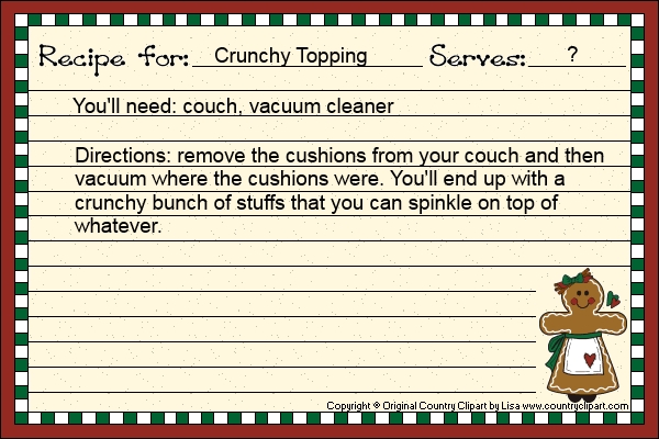 Crunchy Topping